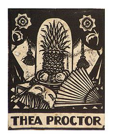 Bookplate by Adrian Feint for Thea Proctor (Australian artist) - 1927