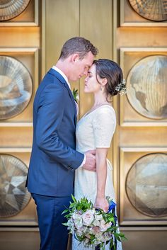 Bride and groom in love at LDS Temple Maryland on their wedding day