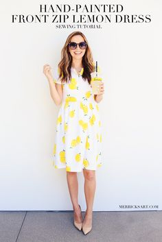 Merrick's Art // Style + Sewing for the Everyday Girl: DIY FRIDAY: LEMON PRINT FIT AND FLARE DRESS SEWING TUTORIAL