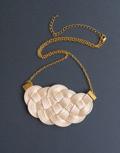 Check out our necklaces selection for the very best in unique or custom, handmade pieces from our shops. Knot Necklace, Gold Necklace, Sailor Knot, Nautical Wedding, Cream White, Diy Jewelry, Macrame, Knots, Handmade