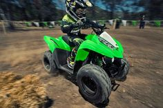 New 2016 Kawasaki KFX® 90 ATVs For Sale in Wisconsin. The KFX® 90 ATV provides the ideal blend of size and performance fir riders 12 and older that are stepping up from a 50 cc ATV or just getting started. 89 cc four-stroke engine and automatic transmission delivers broad power delivery with plenty of usable torque Push button electric start provides simple and reliable starting Parental controls such as an adjustable throttle limiter and CVT collar allow the speed and performance to be…