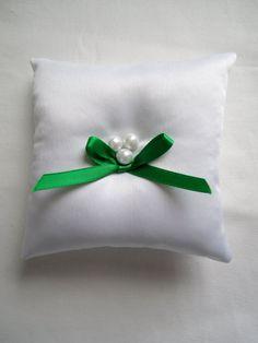Emerald Ring Bearer Pillow by StitchPrincess on @Etsy