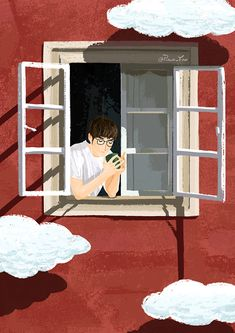 Boy Illustration, Pretty Drawings, Couple Wallpaper, Aesthetic Gif, Various Artists, Anime Guys, Serenity, Windows, Cover