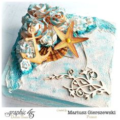 By the Sea altered box by Mariusz using Clearsnap and G45 #graphic45