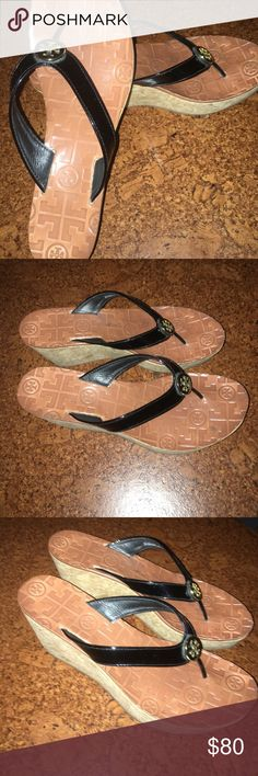 Tory Burch Thora Wedge Thong Sandals