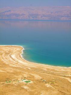 El Mar muerto: Situado entre Israel, Jordania y los Territorios Palestinos.