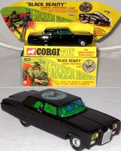 "1966 ""Black Beauty"" (The Green Hornet) car by Corgi.  Funny thing - when I was a kid collecting Corgi cars, I didn't even know what a ""corgi"" was.  Now I have two of these wonderful dogs!"
