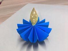 Diy How to make Paper Diya Paper Crafts For Kids, Diy Paper, Diy And Crafts, Card Crafts, Diwali Diya, Diwali Craft, Significance Of Diwali, Diwali Decorations At Home, Diwali Lights