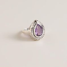One of my favorite discoveries at WorldMarket.com: Sterling Silver and Amethyst Ring..WANT THIS!!!!