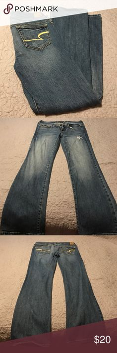 American Eagle Jeans Used but great condition! Size 6 short, slim boot, stretchy. American Eagle Outfitters Jeans Boot Cut