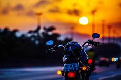 Sunset, Balneário Camboriú, Santa Catarina. Harley-Davidson.