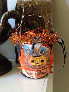 Started my little Halloween buckets today.