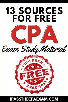 Studying for the CPA Exam? Here's a list of the free CPA review questions and resources that I've discovered and used. Also, I'll share where to find the AICPA practice exam and other CPA review for free. While you don't have to pay money for these CPA prep questions, you may have to supply information and live with various limitations. #CPA #CPAExam Accounting Exam, Cpa Exam, Exam Study Tips, Exams Tips, Cpa Review, Practice Exam, Test Prep, Study Materials, Studying