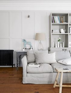 Pale and interesting: These stylish white living room ideas showcase how white can suit a whole manner of styles that are not the least bit minimal. Contemporary Interior Design, Contemporary Furniture, Interior Design Living Room, Living Room Designs, Interior Walls, Furniture Layout, Rustic Furniture, Living Room Furniture, Living Room Decor