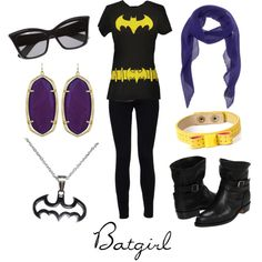 BAtgirl Modernized kinda reminds me of this Indie Batgirl I saw awhile ago uuber cute Nerd Fashion, Fandom Fashion, Batman Outfits, Fandom Outfits, Casual Cosplay, Batgirl, Polyvore Outfits, My Style, Geek Style