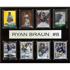 MLB 12x15 Ryan Braun Milwaukee Brewers 8 Card Plaque