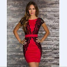Women's Slim Patchwork  Flower Tank Casual Dress  – CAD $ 27.50