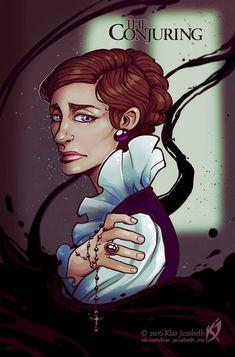 Conjuring 3, Vera Farmiga, Lorraine, Illustration, Anime, Art, Entertainment, The Conjuring, Beauty Girls