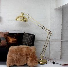 Golden Floor Lamp - lighting