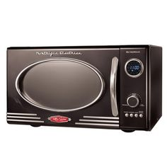 @Overstock - The retro design of this Nostalgia Electrics microwave adds a touch of old-school charm to your kitchen. This microwave features a robust 800-watt motor and twelve pre-programmed functions.http://www.overstock.com/Home-Garden/Nostalgia-Electrics-Retro-Black-Microwave/6039727/product.html?CID=214117 $144.99