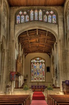Inside St James' Church, Chipping Campden, Gloucestershire, in theCotswolds