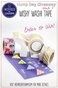 I love washi tape! Join me on the blog today for a fabulous giveaway from my friends at @Wishy Washi Tape  Enter here: http://www.inspiredbycharm.com/2013/06/1354.html