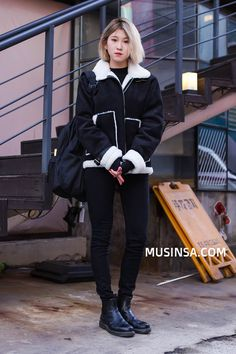 Korean Street Fashion 2016 | Official Korean Fashion Fashion Online, Fashion 2016, Fashion Trends, Pretty Outfits, Cool Outfits, Street Style 2016, Fashion Wallpaper, Traditional Fashion, Korean Street Fashion
