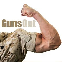 Guns Out! Bicep appreciation season is back. Don't forget to roll your sleeves, Marines. Marsoc Marines, Us Marines, Military Memes, Military Personnel, Military Guys, The Few The Proud, Passion Work, Gung Ho, Wounded Warrior Project