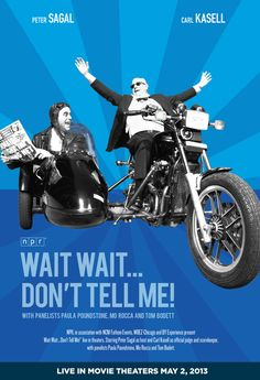 LIVE Wait, Wait... Don't Tell Me cinecast coming to theaters nationwide on May 2, at 8:00 p.m. (ET)/7:00 p.m. (CT), with an encore showing in select theaters May 7, at 7:30 p.m. (local time).