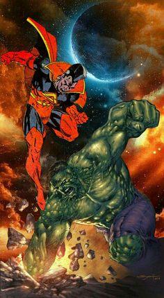 Gladiator vs Hulk By: Marvel Comics Superheroes, Marvel E Dc, Marvel Comic Universe, Comics Universe, Disney Marvel, Marvel Heroes, Marvel Comic Character, Comic Book Characters, Marvel Characters