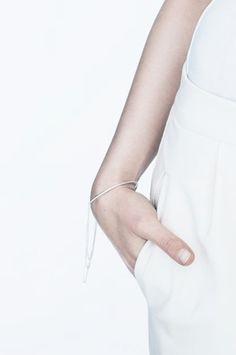 http://www.delacadore.com/ Minimal jewelry--Saskia Diez for Filippa K