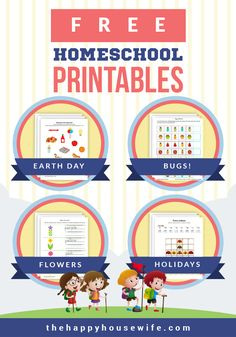 Supplement your homeschool curriculum with this HUGE list of free printable worksheets. Free Printable Worksheets, Worksheets For Kids, Free Printables, Preschool Science Activities, Preschool At Home, Science Ideas, Preschool Ideas, Learning Resources, Kids Learning