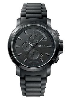 Hugo Boss black silicone strap chronograph
