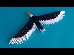 3D origami eagle (hawk) assembly diagram (tutorial, instructions)
