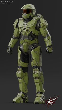 """Fan made model directly inspired from the 2019 Halo Infinite trailer """"Discover Hope"""". Master Chief Cosplay, Halo Master Chief Helmet, Master Chief Armor, Master Chief Costume, Master Chief And Cortana, Halo Cosplay, The Legend Of Zelda, Daft Punk, Star Lord"""