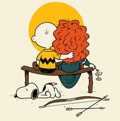 And Charlie Brown managed to win the Little Red-Haired girl ... or nearly so