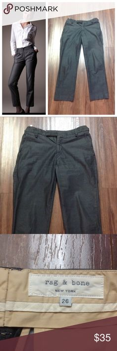 """Rag & bone dark grey ankle pants In like new condition. Inseam is 27"""" long.  Model is not wearing the actual item but is added for styling idea.                      e rag & bone Pants Ankle & Cropped"""