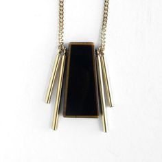 Mr Obsidian gold filled chain and components obsidian by sewasong, €40.00