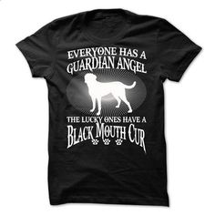 My Black Mouth Cur Is a Guardian Angel - #shirt prints #golf tee. PURCHASE NOW => https://www.sunfrog.com/Names/My-Black-Mouth-Cur-Is-a-Guardian-Angel.html?68278