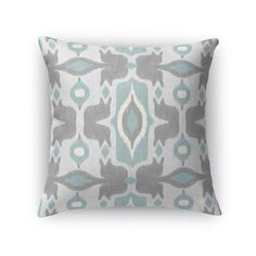 """Kavka Cosmos Throw Pillow Color: Blue, Size: 18"""" H x 18"""" W x 5"""" D"""