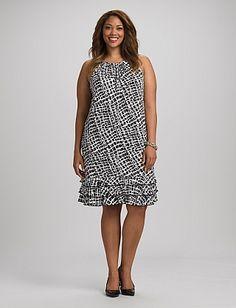 Square-Printed Dress | Dressbarn  Super cute!!