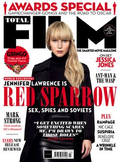 Jennifer Lawrence on dealing with Red Sparrow's most scandalous scenes: 'I just walked out feeling empowered' Jennifer Lawrence Red Sparrow, Magazine Front Cover, J Law, Mark Strong, Movie Magazine, Jessica Jones, Liam Hemsworth, Love Movie, Mans World