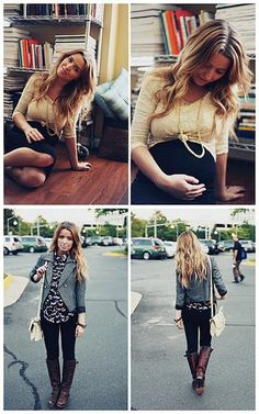 pregnant fashion...link doesn't work, but the picture at least gives you an idea of cute outfits, the actual blog is called The Daybook