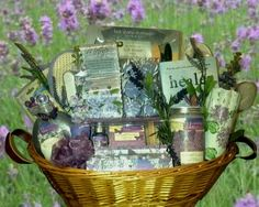"""Zotorius Creations Gift Baskets, LLC ~ """"Like"""" us on Facebook! This basket consists of the following items:    · A large wicker basket with handles  · Lila Grace Lavender Vanilla floral jewelry box which includes:  o 3.7 fl. Oz/100 ml shower gel  o 3.7 fl.oz/100 ml body lotion  o 2fl. oz body mist  o 4 bath fizzers 0.3 oz/10g  o A wooden scrub brush  · Lila Grace Lavender Vanilla Calming Bath Crystals 42.3 oz./1200g  · Lila Grace Lavender Vanilla…"""