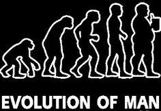 New Custom Screen Printed T-shirt Evolution Of Man Humor Small -