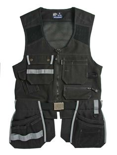 Faceline Workwear Vests - Jubilee Workwear Collection - products new home - Faceline Workwear_Carpenter_Jubilee_Tool pocket_Work Vest_Black by Björnkläder