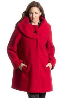 Asos manteau rouge femme