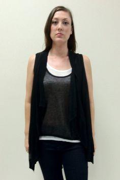 Michael Michael Kors Double Layer Drape Sweater M $44.99 | eBay www.darlingdiscounts.com