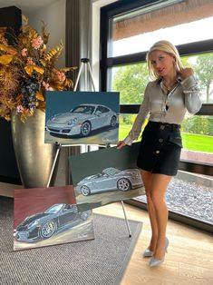 LinkedIn Porsche Cars, Car Painting, Luxury Cars, North America, Mini Skirts, Paintings, Canvas, Beauty, Black