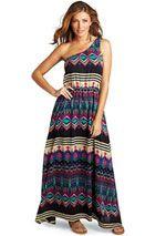 mia tribal maxi dress